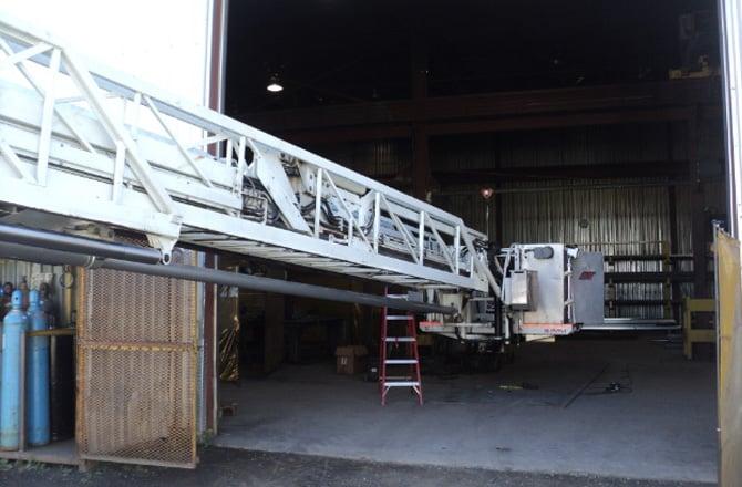 Fire truck ladder 2